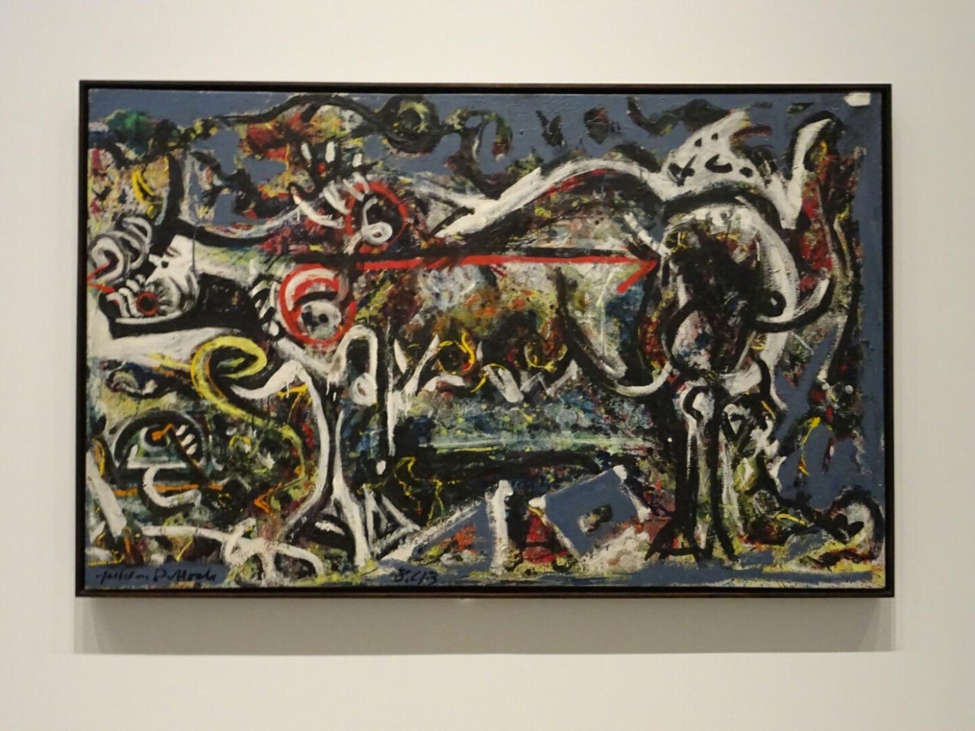 """The She-Wolf, (La Louve)"" - Jackson Pollock, 1943"